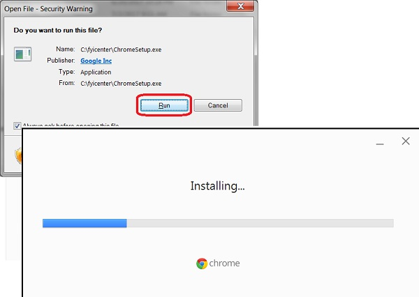 Google Chrome 61 Installation Steps