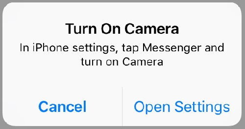 Camera Permissions Error on Messenger Video Call