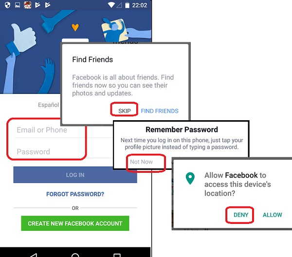 Facebook Login on Android Devices