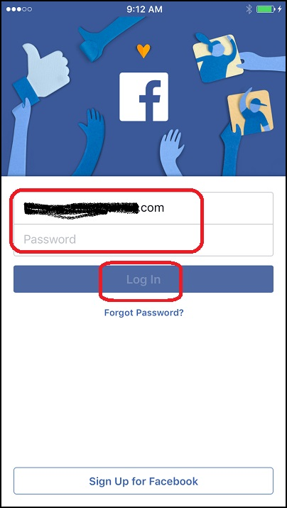 Facebook Login on iPhone