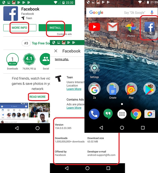 Download and Install Facebook for Android Devices