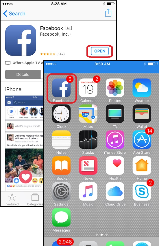 Download and Install Facebook for iPhone