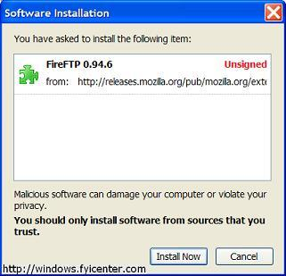 Mozilla Firefox 2.0 Add-on FireFTP