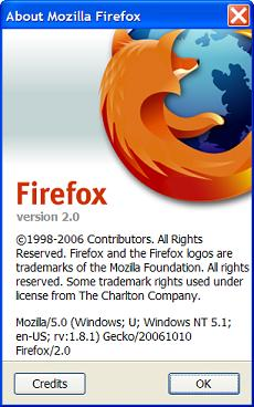 Mozilla Firefox 2.0 Version Info