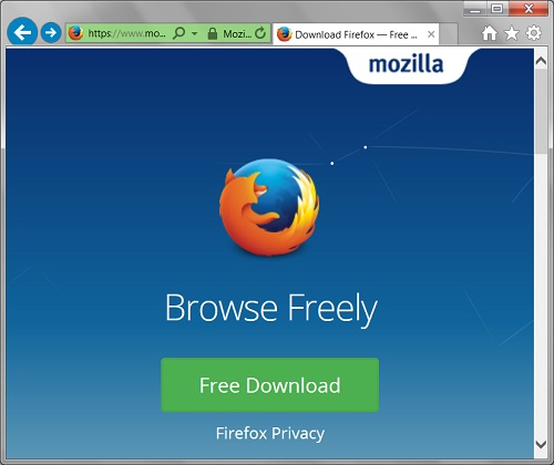 Mozilla Firefox 50.1 Download Page