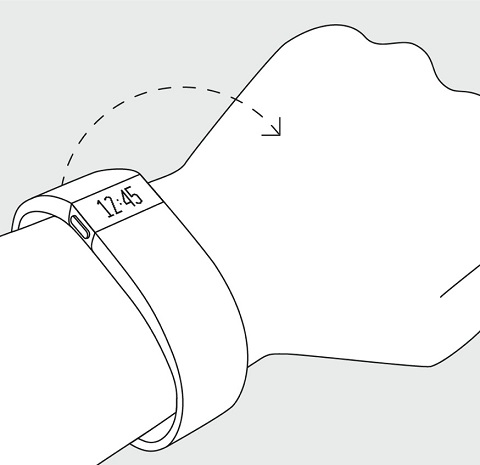 Fitbit Charge - Twist Arm Motion