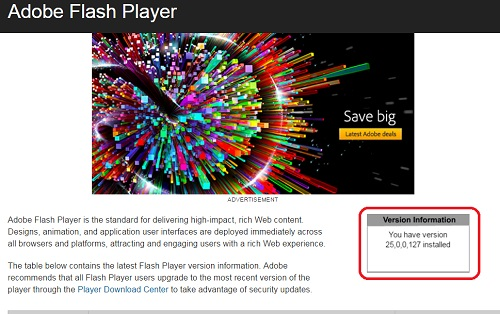 Google Chome 56 - Flash Player Enabled