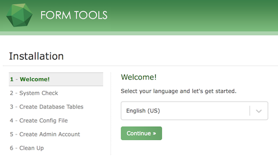Form Tools - Configuration Setup Page