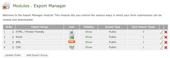 Form Tools - Export Manager Module