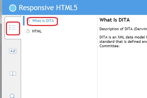 View Responsive HTML5 Files Generated from DITA Map