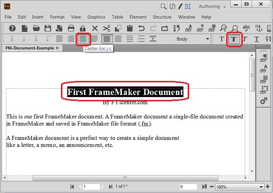 Format Content of FrameMaker Documents