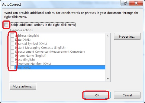 AutoCorrect Actions Add-ins in Microsoft Word