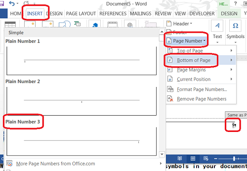Microsoft Word - Add Page Number in Footer