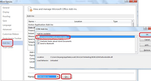 Manage and Disable Add-in in Microsoft Word