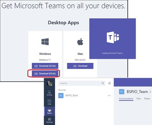 Cloud - Install Microsoft Teams on Windows 7