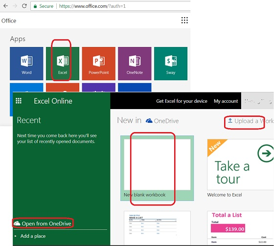 Use Excel Online in Microsoft Office 365