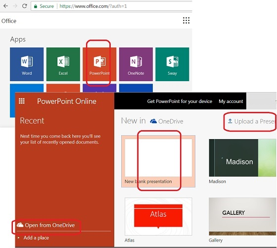 Use PowerPoint Online in Microsoft Office 365