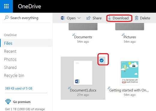 Download Files and Folders from Microsoft OneDrive