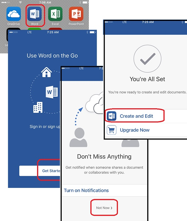 Get Started with Word for iPhone