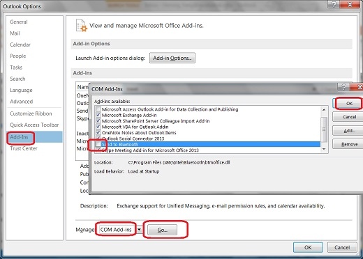 Manage and Disable Add-in in Outlook 2013