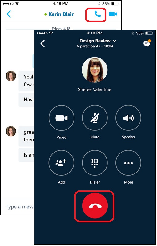 Audio Call with Skype for Business on iPhone