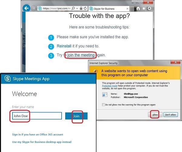 download skype for business web meetings app