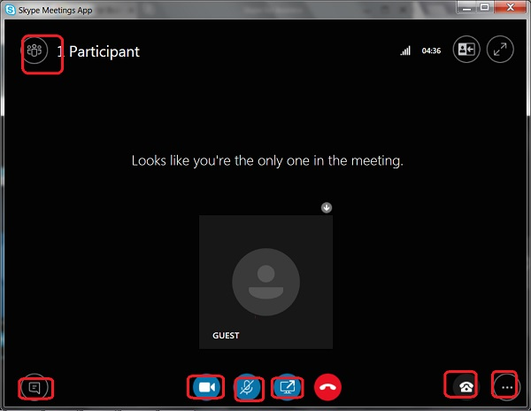 Cloud - Skype Meetings App Functionalities