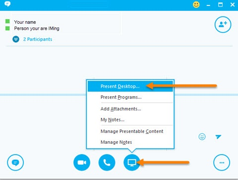 Share Your Screen in Skype for Business